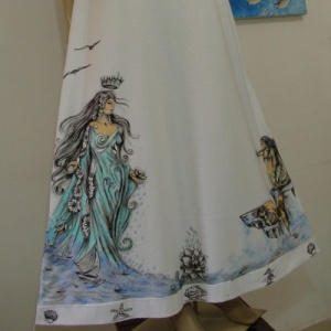 Filhas de Iemanjá Azul :: Vestido Longo - Atelier Sandra