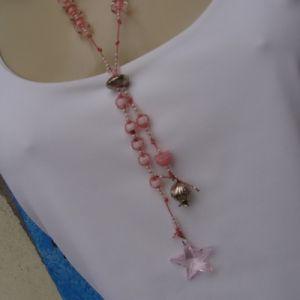 Terço Mimoso Estrela Cristal Rosa - Atelier Sandra