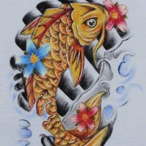 Carpa Oriental 1 :: Série Tattoo - Atelier Sandra