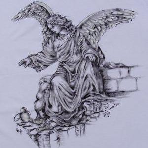 Arcanjo São Raphael::Série Tattoo - Atelier Sandra