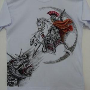 São Jorge com o Dragão : frente e verso - Atelier Sandra