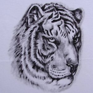 Cabeça de Tigre :: Série Tattoo - Atelier Sandra