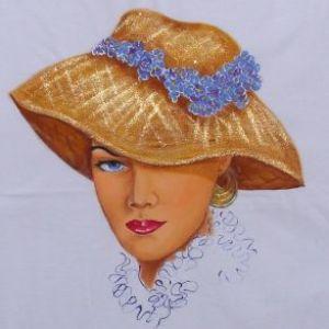 Mulher de Chapéu - Atelier Sandra