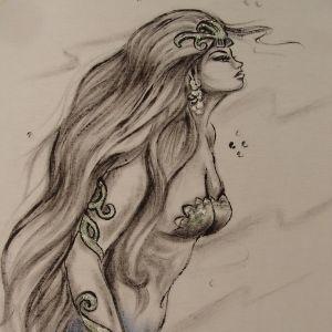 Sereia Princesa :: Série Tattoo - Atelier Sandra