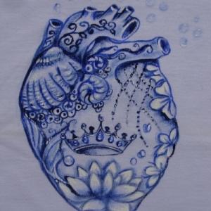 Coração de Iemanjá - Atelier Sandra