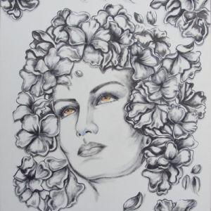 Cabeça de Fllores. - Atelier Sandra