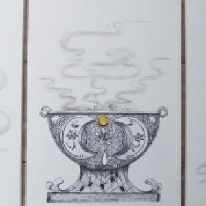 Tríptico Incensários - Atelier Sandra