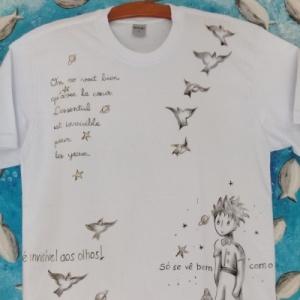 Poesias Pequeno Príncipe II - Camiseta - Atelier Sandra