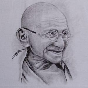 Mahatma Gandhi::Sèrie Tattoo - Atelier Sandra
